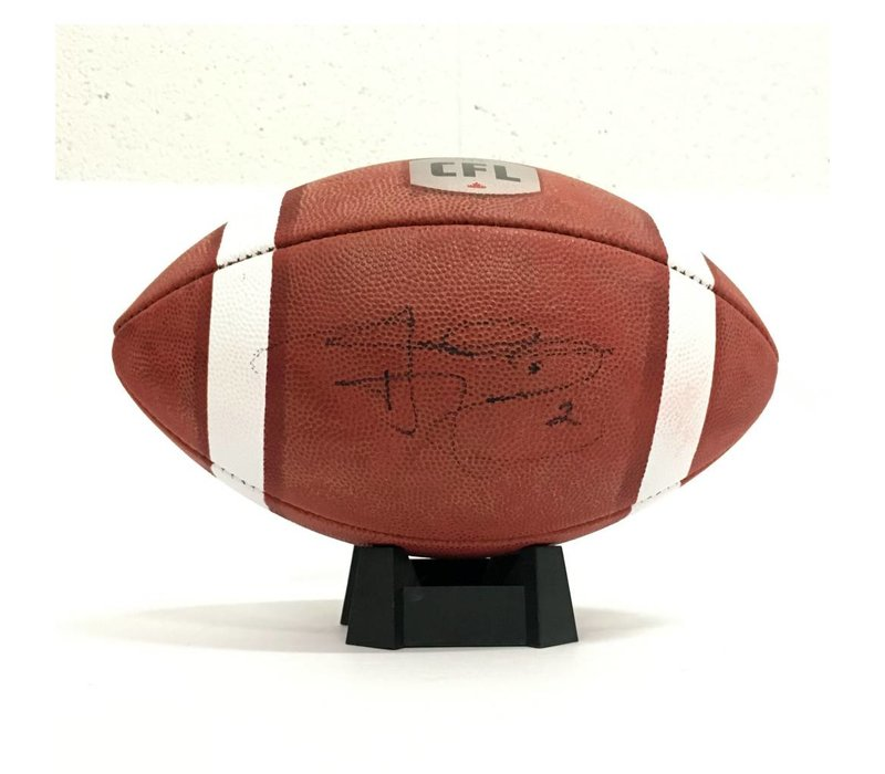 SIGNED JOHNNY MANZIEL FOOTBALL