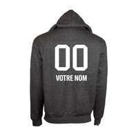 PERSONALIZED PLAYER HOODIE - GREY