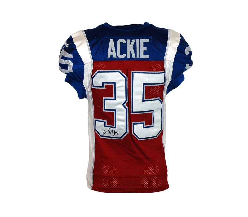 2015 SIGNED ACKIE GAME JERSEY
