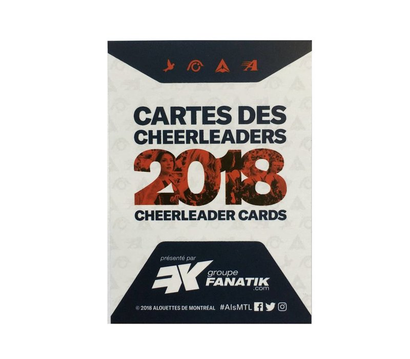 CARTES DE CHEERLEADERS 2018