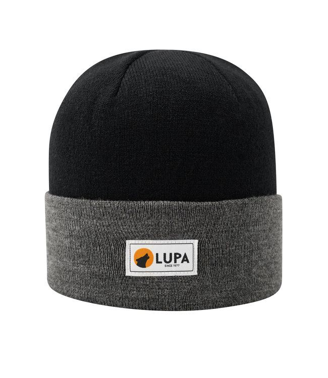 Lupa Canadian-made Kids Acrylic Beanie Black/Grey