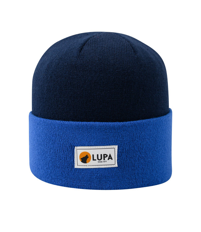 Lupa Canadian-made Kids Acrylic Beanie Navy/Cobalt