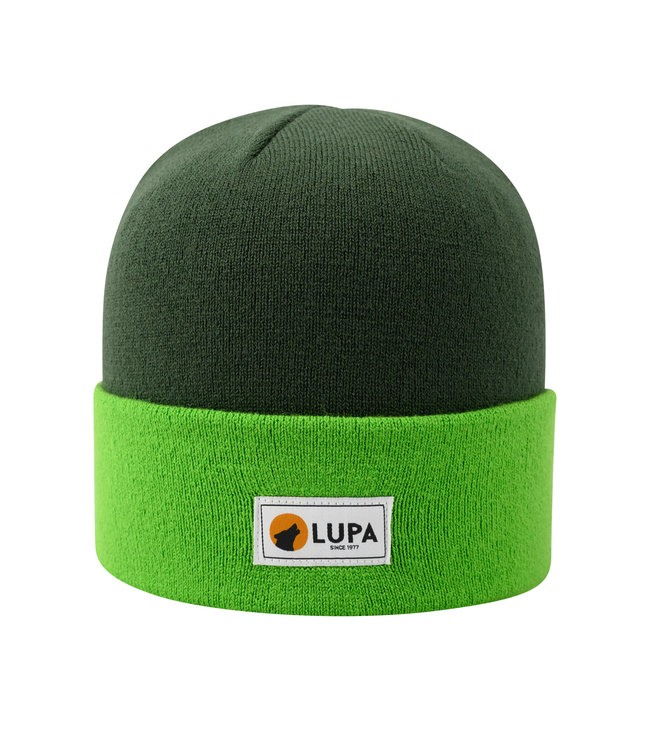 Lupa Tuque Bicolore Enfant Moss/Lime | Canadian-made Kids Acrylic Beanie Moss/Lime