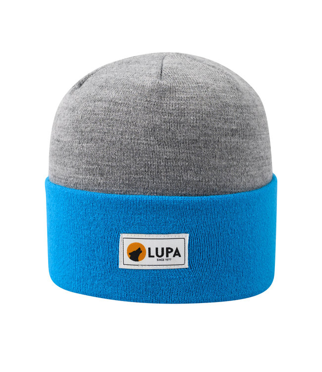 Lupa Canadian-made Kids Acrylic Beanie Grey/Sky Blue