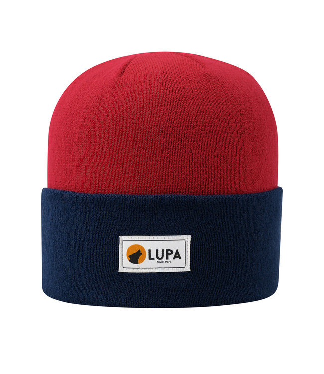 Lupa Canadian-made Kids Acrylic Beanie Red/Navy