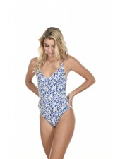 Banyans One Piece in Blue Batik
