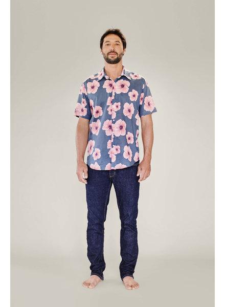 Mens Aloha Shirt Hibiscus