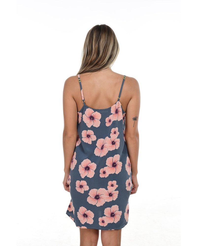 Vatu Silk Dress in Hibiscus