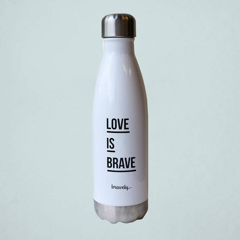 d30e441a9e bravely 'love is brave' water bottle (26oz) - OSO:a style lab