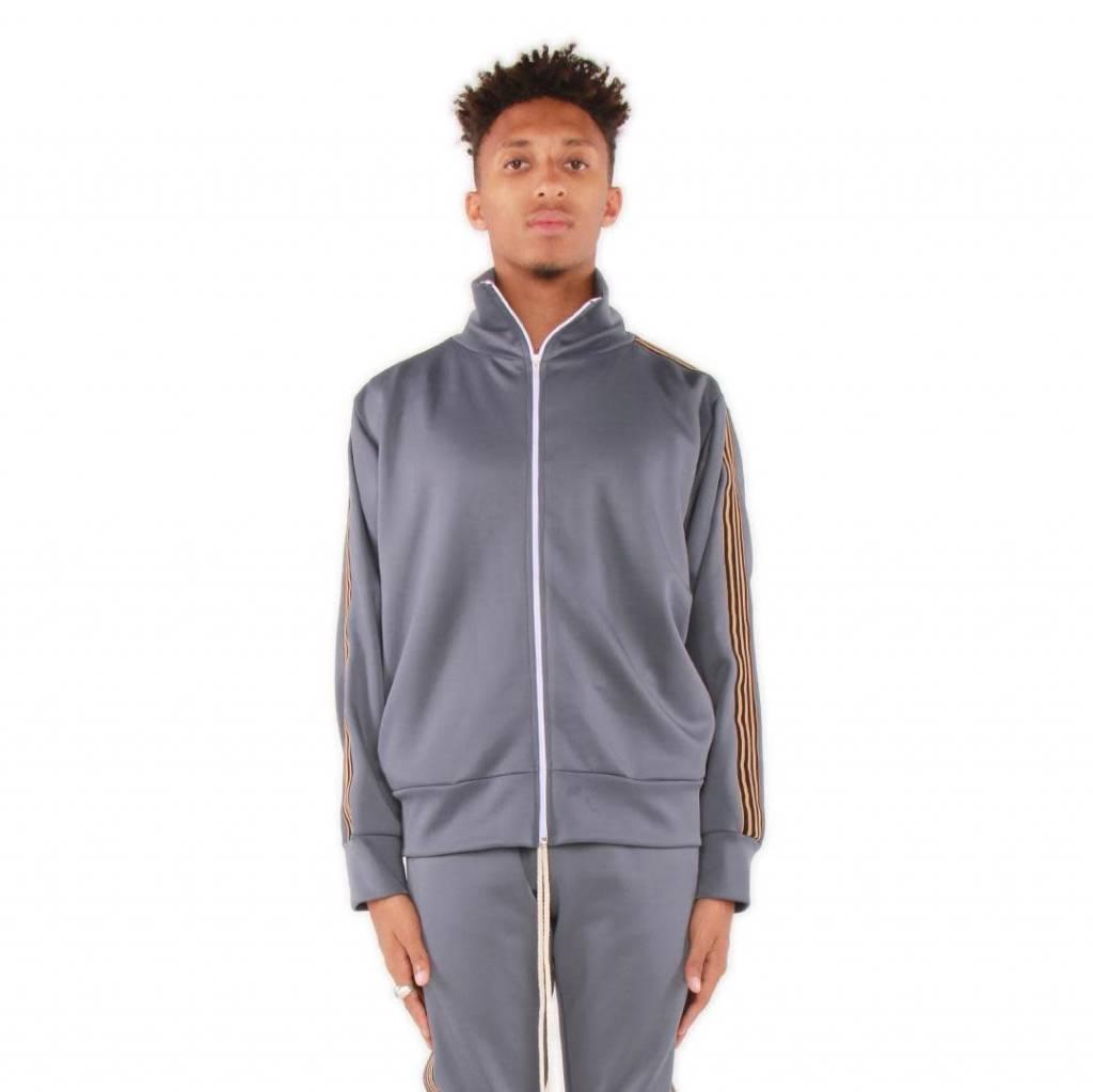 c4619b4a225005 eptm 4 stripe track jacket (dk grey) - OSO:a style lab