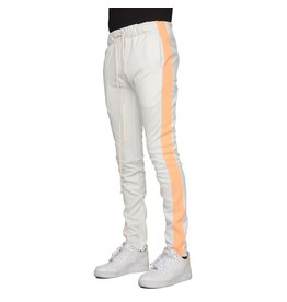 68e4a72ca0c226 EPTM eptm neon track pants (white/neon orange)