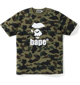 9005dccf BAPE bape mad face 1st camo tee (green)