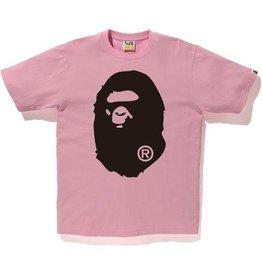 36a69218e BAPE bape bicolor big ape head tee (pink)