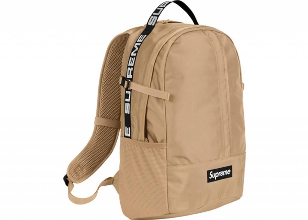 3eb29176615a supreme backpack SS18 (tan) - OSO a style lab