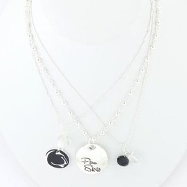 Seasons Jewelry Penn State Silver Disk Trio