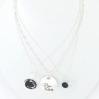 Seasons Jewelry Penn State Silver Disk Trio