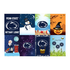 Sewing Concepts 8 Pack Seasonal Design Garden Flag 13x18