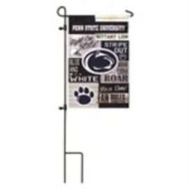 Evergreen Enterprises Penn State Linen Fan Rules Garden Flag