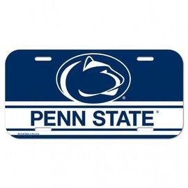 Plastic Penn State License Plate