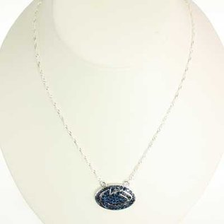 Seasons Jewelry Penn State Crystal Lion Head Necklace