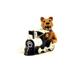 Nittany Lion on Train Ornament