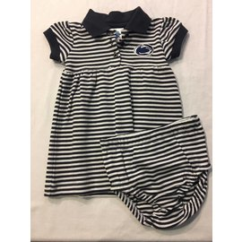 Creative Knitwear Penn State Stripe Dress with Bloomers