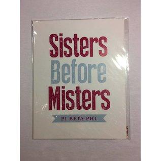 Dwellings Sisters Before Misters PBP