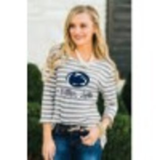 Gameday Couture Striped Peplum Blouse