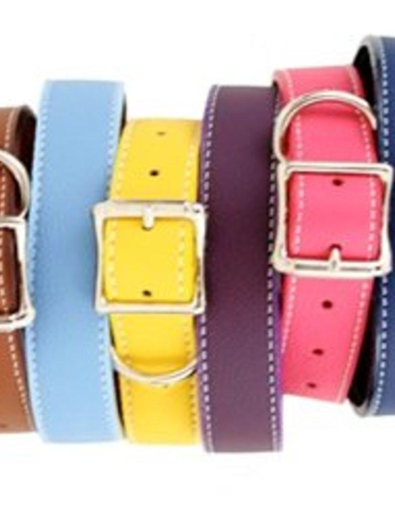 Auburn Leathercrafters Auburn Tuscany Leather Collar Pink