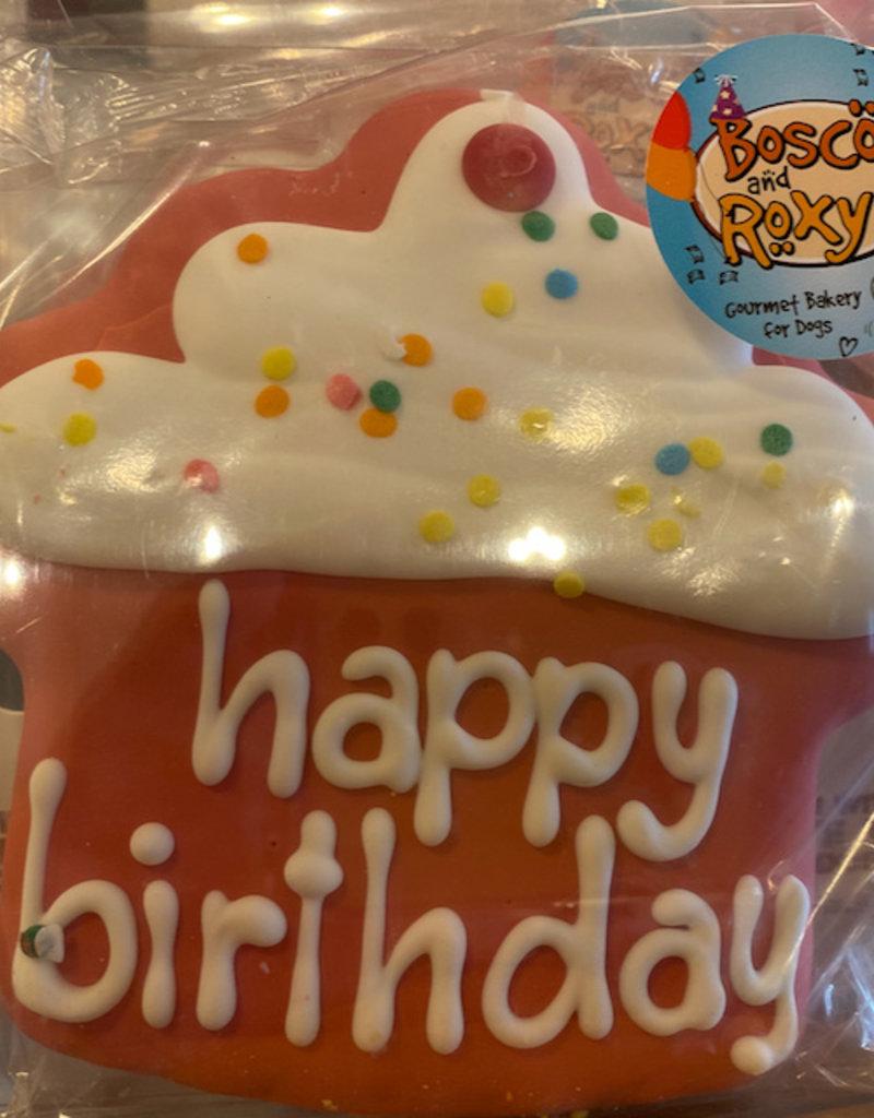 Bosco & Roxy's Paw-ty Time Cookie 4 Inch Happy Birthday Cupcake