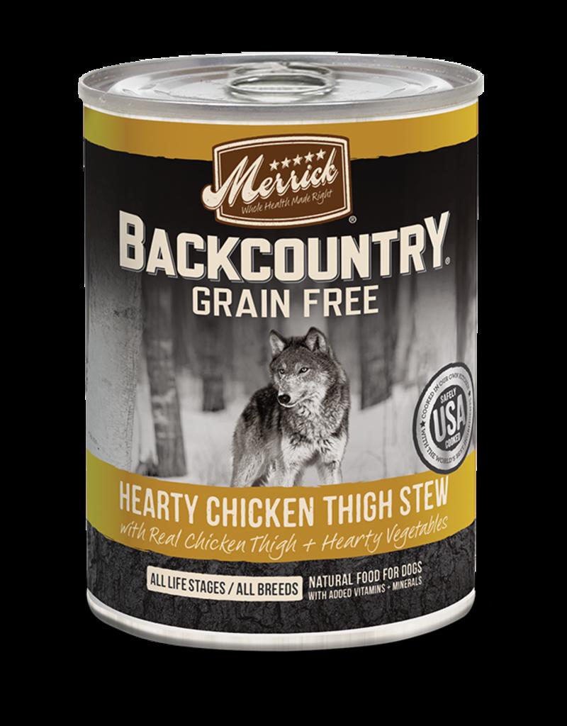 Merrick Merrick Backcountry Wet Dog Food Stew Can