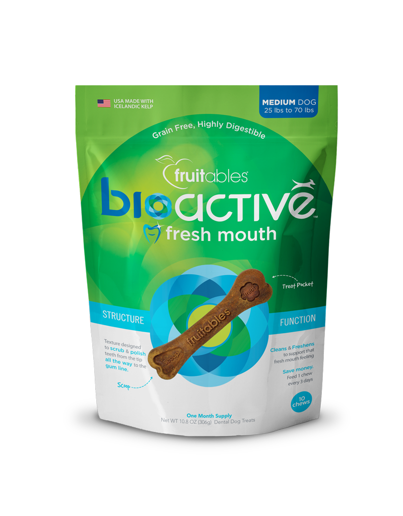 Fruitables Fruitables BioActive Fresh Mouth Dental Chews Bag