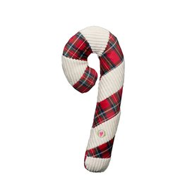 Hugglehounds Hugglehounds Totally Tartan Candy Cane Dog Toy