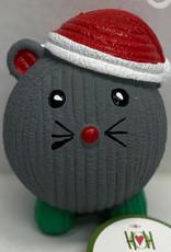 Hugglehounds Hugglehounds Holiday Dog Toy Santa Mousey Large