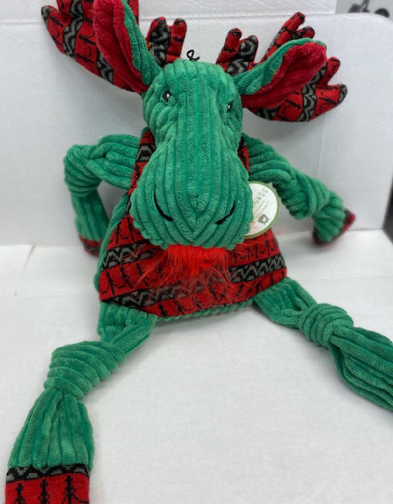 Hugglehounds Hugglehounds Holiday Dog Toy Green Moose X-Large