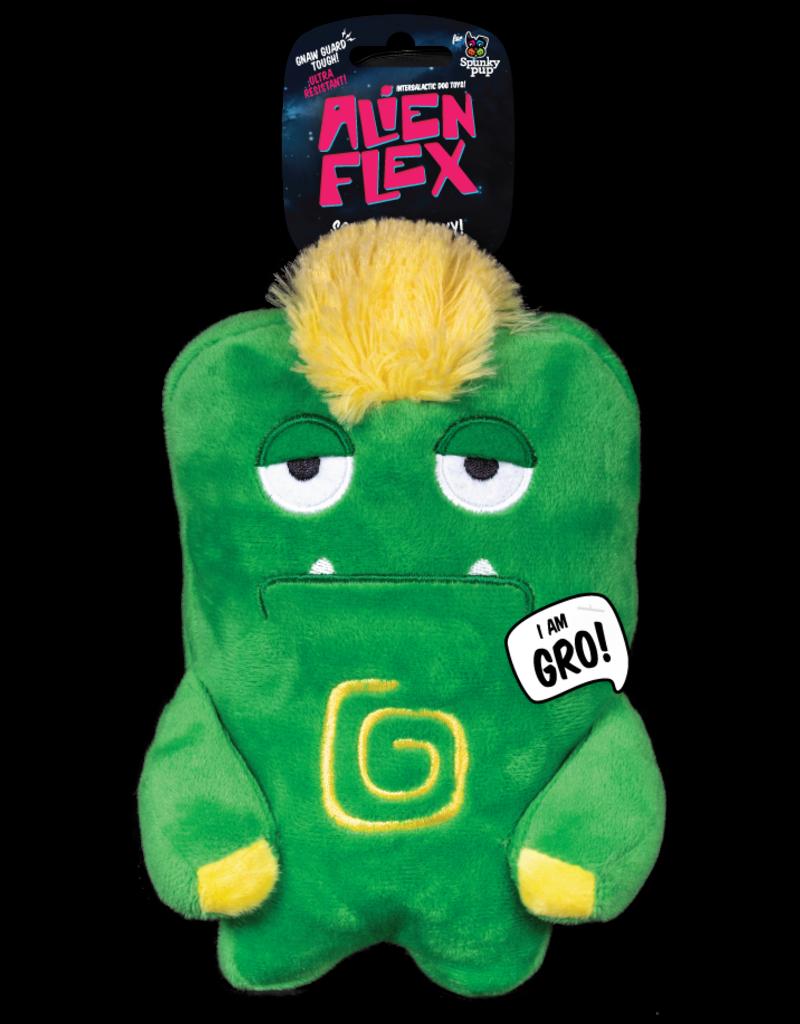 Spunky Pup Spunky Pup Alien Flex Plush Dog Toy