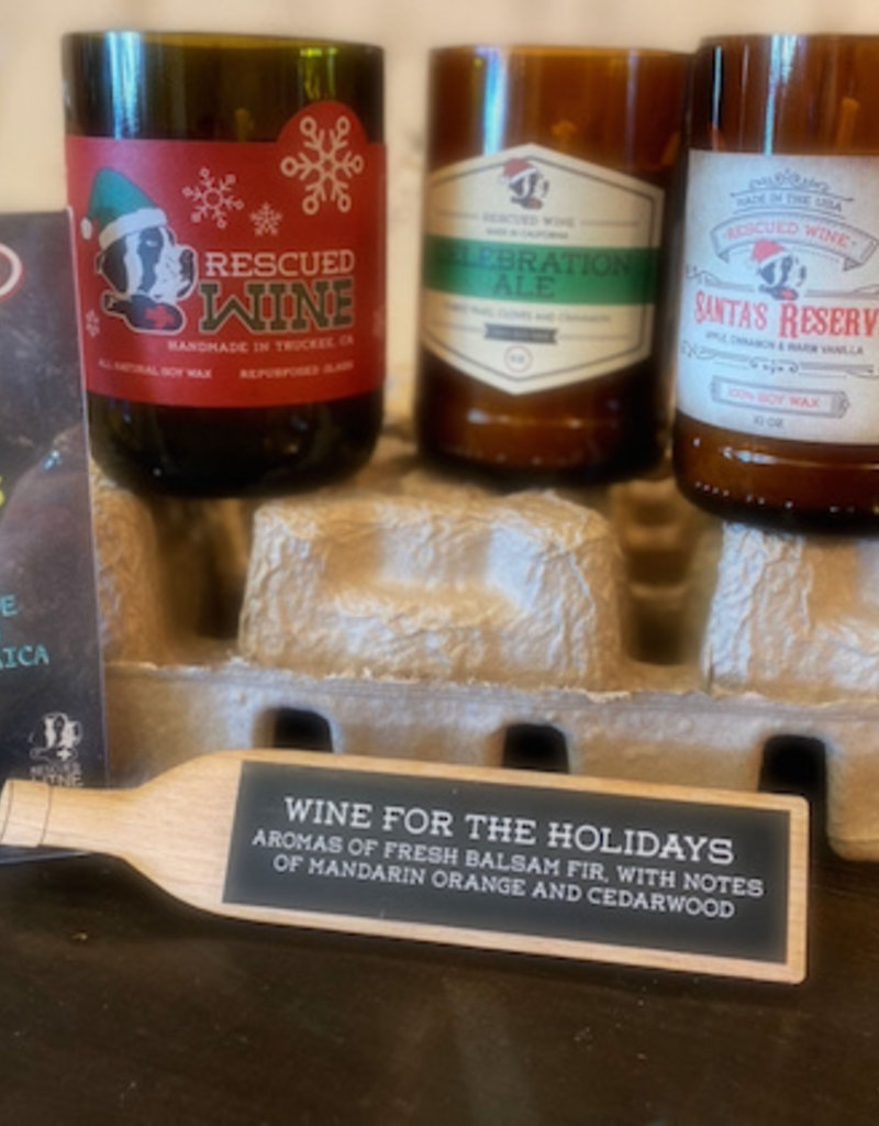 Rescued Wine Candles Holiday Collection