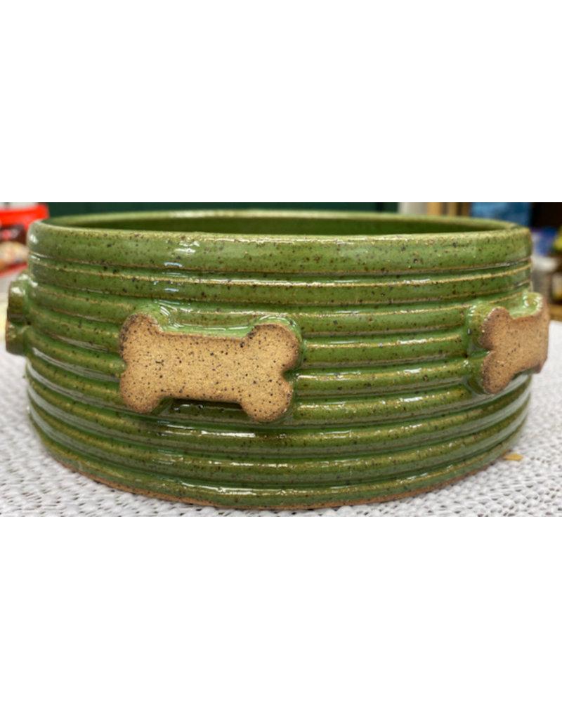 Fatty Frog Pots Fatty Frog Handmade Bone Print Dog Bowls