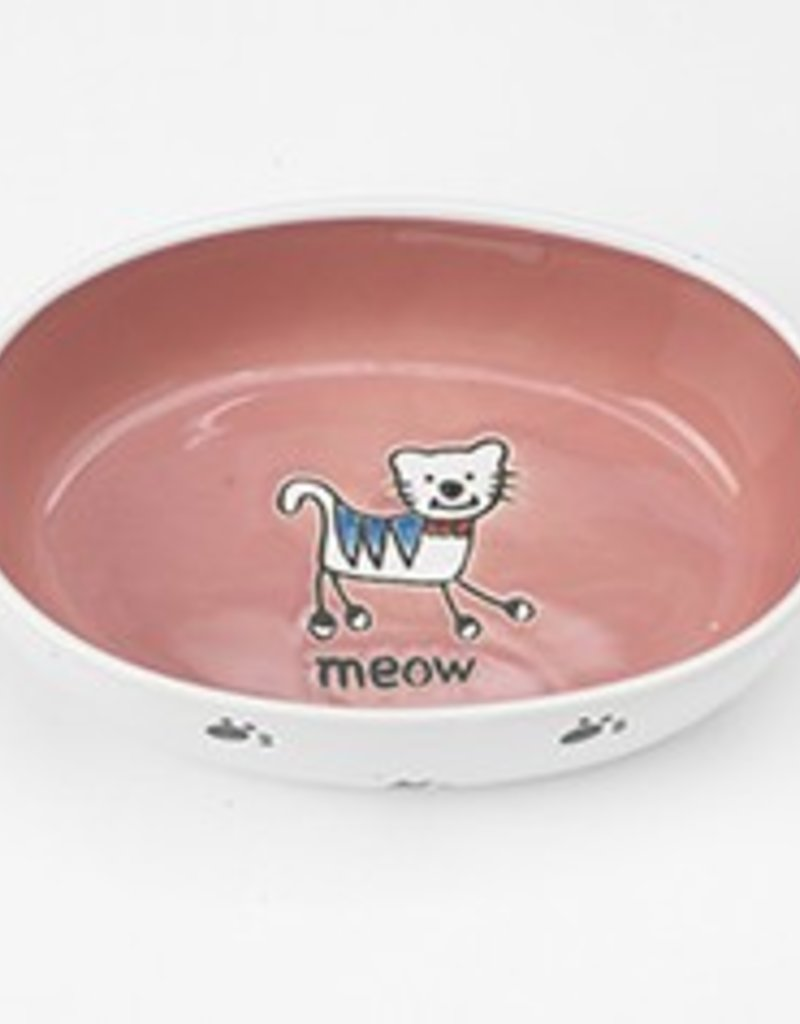 Petrageous Designs Petrageous Silly Kitty Oval Cat Dish