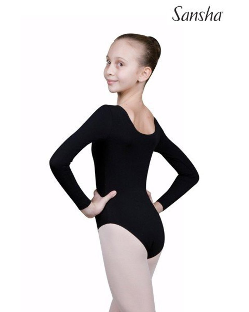 Sansha Sansha 'LONG' Sleeve Leotard - Black