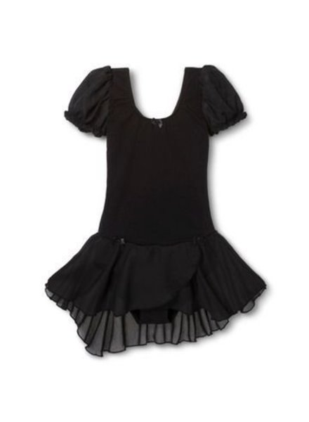 Danshuz Danz N Motion  'PUFF' Sleeve Dress with Bow Trim  -  Black