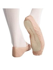 Angelo Luzio Angelo Luzio Tiler Full Sole Leather Pleated Ballet Slipper - Pink (8 Toddler - 1 Youth)
