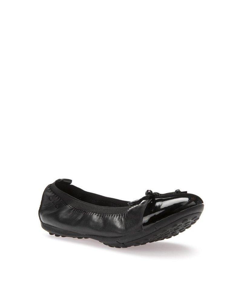 GEOX Geox 'PIUMA'  Ballerina Flat - Black/Patent