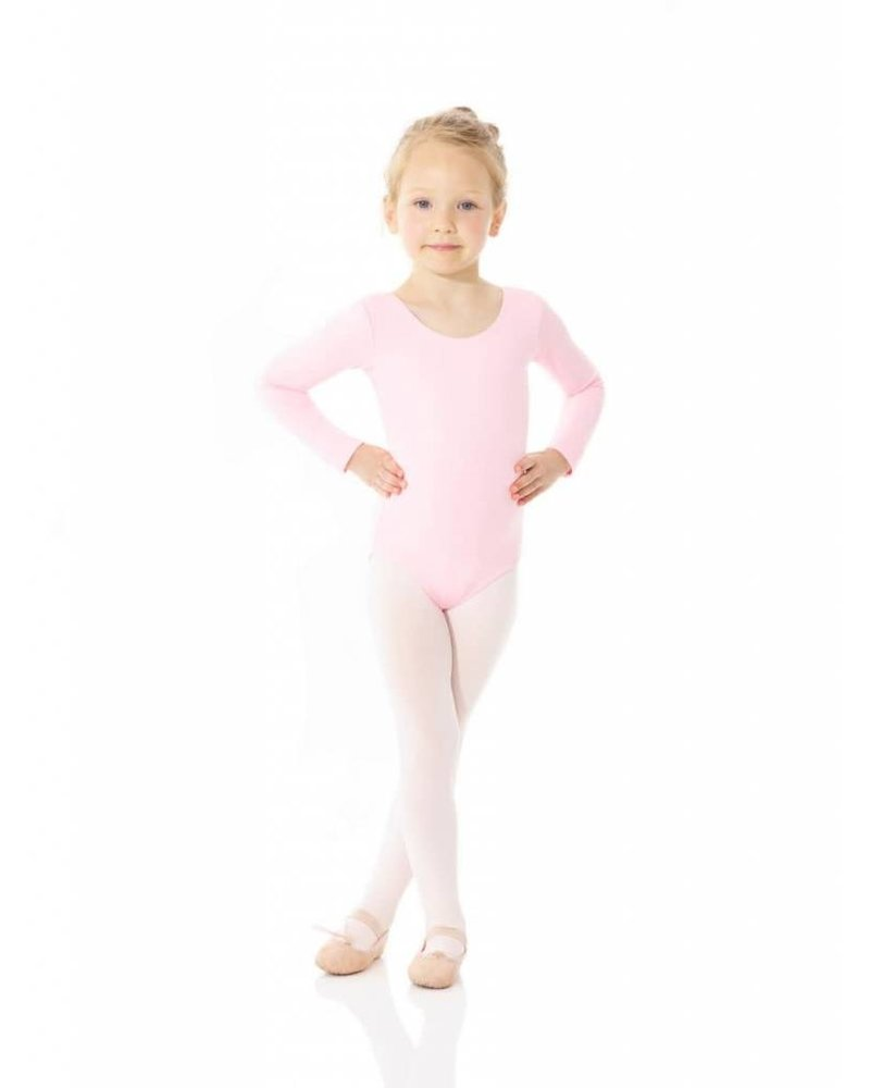 Mondor Mondor 'LONG' Sleeve Leotard - Pink