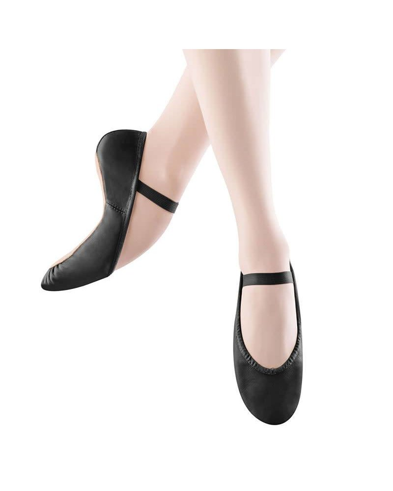 Angelo Luzio Angelo Luzio Tiler Full Sole Leather Pleated Ballet Slipper - Black