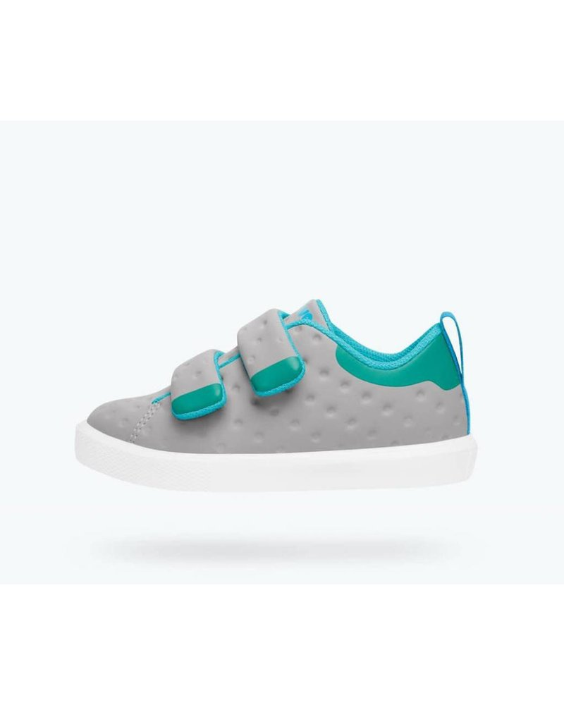 Native Native Monaco Velcro CT - PIGEON GREY/POOL BLUE/SHELL WHITE