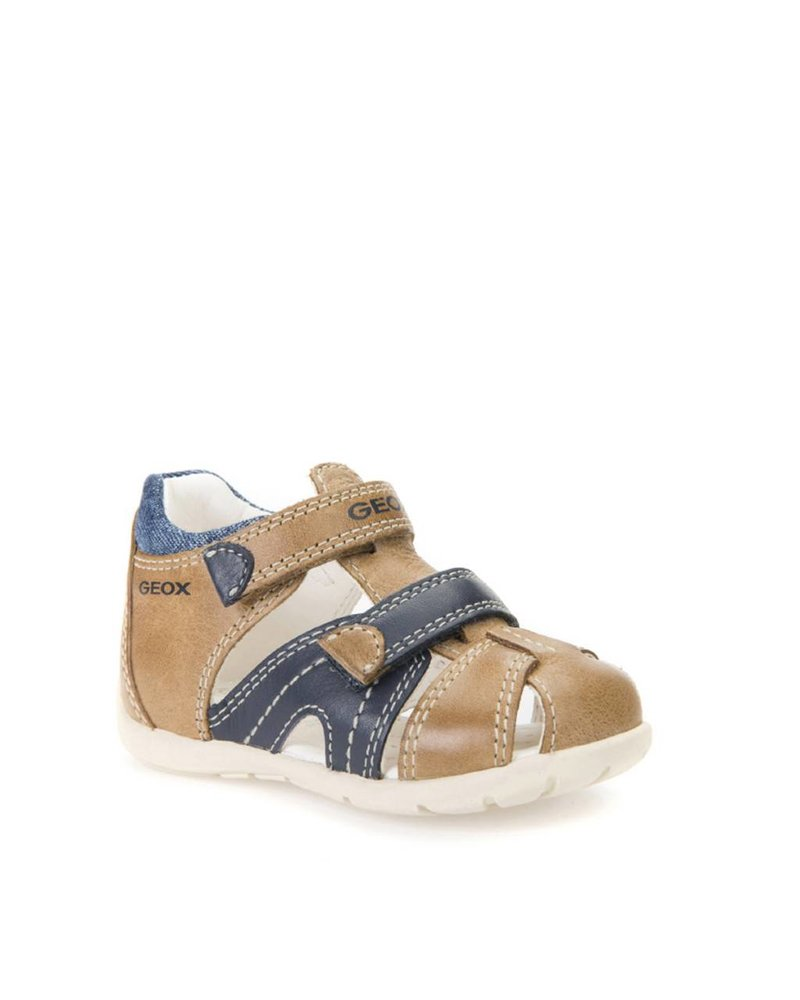 GEOX Geox B KAYTAN - Caramel and Navy