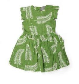 Kate Quinn Organics Pleated Arm Ruffle Pocket Dress