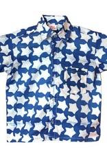 Global Mamas Blue Stars Button Down Shirt