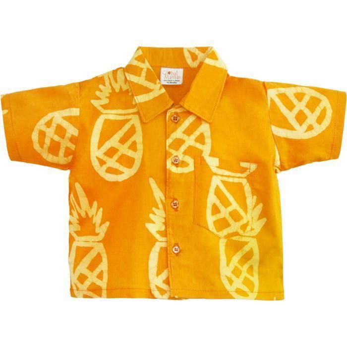 2f2ce01da2 Marigold Pineapple Button Down - Daiseye - Daiseye
